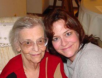 Ruth & her first spiritual mentor, her grandma.